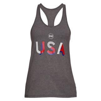 Under Armour USA Tank Charcoal Medium Heather / White