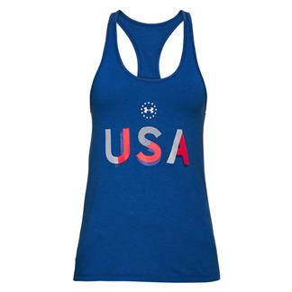 Under Armour USA Tank Royal / White