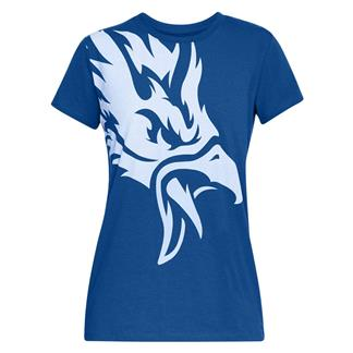 Under Armour Freedom Eagle T-Shirt Royal Medium Heather / White