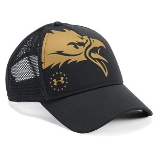 Under Armour Eagle Freedom Hat Black / Black / Gold Rush