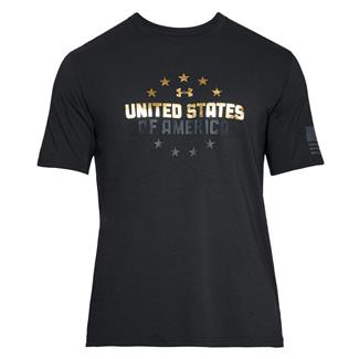 Under Armour Freedom One Nation T-Shirt Black / Stealth Gray