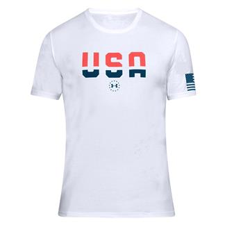 Under Armour Freedom USA T-Shirt White / Blackout Navy