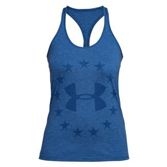 Under Armour Freedom Burnout Tank Royal Light Heather / White