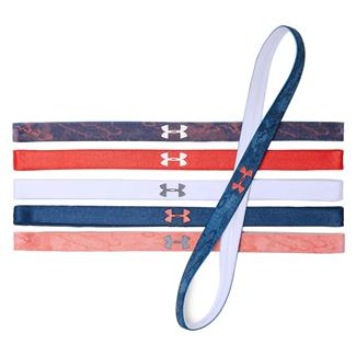 Under Armour Freedom Mini Headband (6 Pack) Blackout Navy / White / White