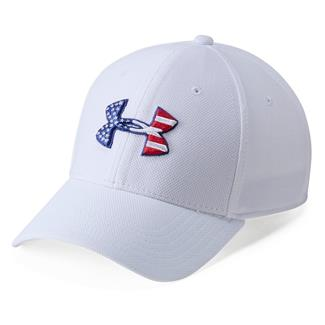Under Armour Freedom Blitzing Hat White / Red / Scribe Blue AFS