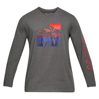 Under Armour Freedom Eagle Long Sleeve T-Shirt Charcoal Medium Heather / Red