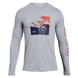 Under Armour Freedom Eagle Long Sleeve T-Shirt Steel Light Heather / Red