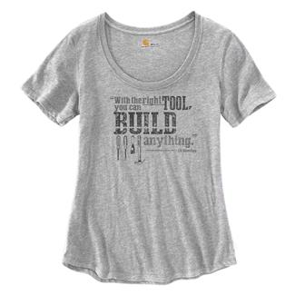 Carhartt Lockhart Graphic Build Anything T-Shirt Heather Gray