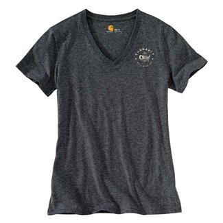 Carhartt Lubbock Graphic USA Logo T-Shirt Carbon Heather