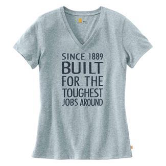 Carhartt Lockhart Graphic Toughest Jobs T-Shirt Lead Heather