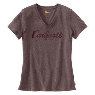 Carhartt Lockhart Graphic Script Logo T-Shirt Sparrow Nep