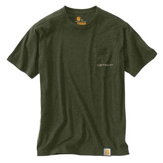 Carhartt Maddock Graphic Fishing 1889 T-Shirt Moss Heather