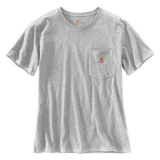 Carhartt WK87 Workwear Pocket T-Shirt Heather Gray