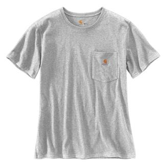 Carhartt WK87 Workwear Pocket T-Shirt Heather Gray