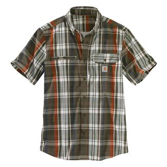 Carhartt Force Ridgefield Plaid Shirt Beech Tree