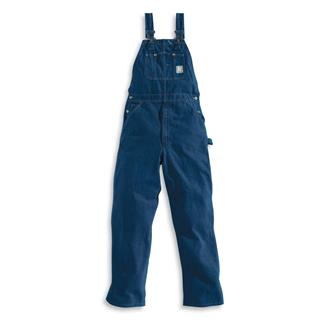 Carhartt Washed Denim Bib Overalls Darkstone
