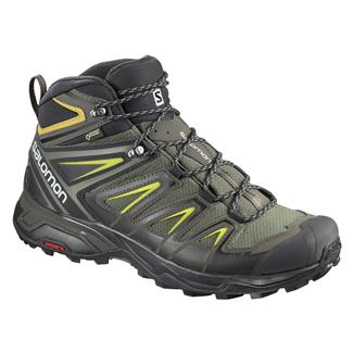 Salomon X Ultra 3 Mid GTX Castor Gray / Black / Green Sulphur