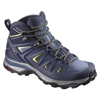 Salomon X Ultra 3 Mid GTX Crown Blue / Evening Blue / Sunny Lime