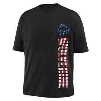 Wolverine Vertical Logo Graphic T-Shirt Black