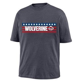 Wolverine Block Print Logo Graphic T-Shirt Granite