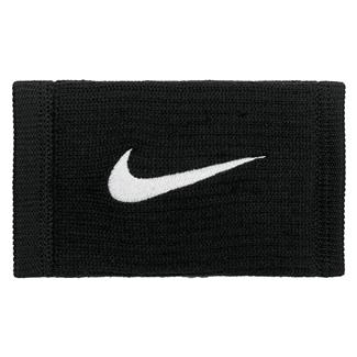 NIKE Dri-FIT Reveal Doublewide Wristbands Black / Dark Gray / White