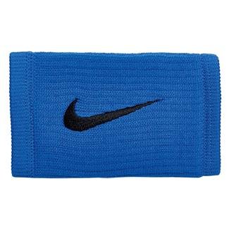 NIKE Dri-FIT Reveal Doublewide Wristbands Hyper Cobalt / Black / Black