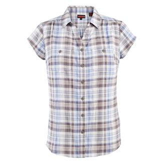 Wolverine Aria Cap Sleeve Herringbone Shirt Blueberry Plaid
