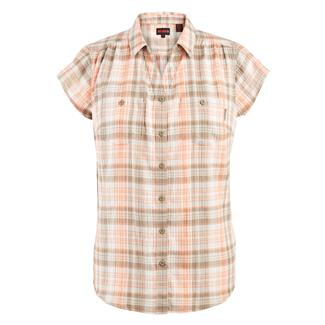 Wolverine Aria Cap Sleeve Herringbone Shirt Melong Plaid