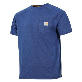 Carhartt Force Delmont T-Shirt Light Huron Heather