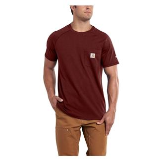 Carhartt Force Delmont T-Shirt Red Brown Heather