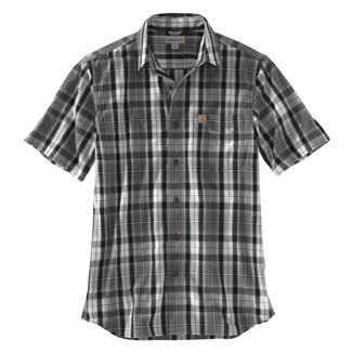 Carhartt Essential Plaid Open Collar T-Shirt Gravel
