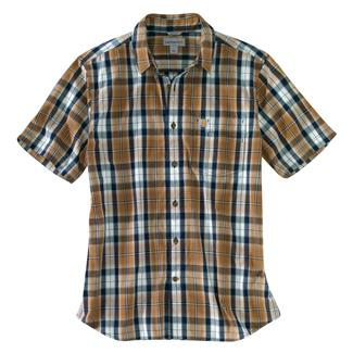 Carhartt Essential Plaid Open Collar T-Shirt Carhartt Brown