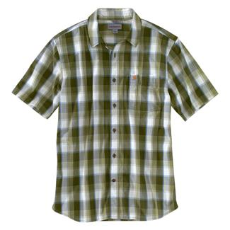 Carhartt Essential Plaid Open Collar T-Shirt Olive