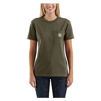 Carhartt WK87 Workwear Pocket T-Shirt Army Green