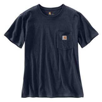 Carhartt WK87 Workwear Pocket T-Shirt Navy