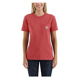 Carhartt WK87 Workwear Pocket T-Shirt Cranberry