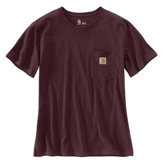 Carhartt WK87 Workwear Pocket T-Shirt Deep Wine