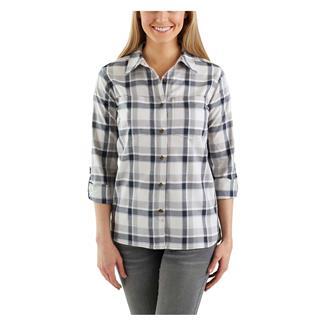 Carhartt Fairview Plaid Shirt Asphalt