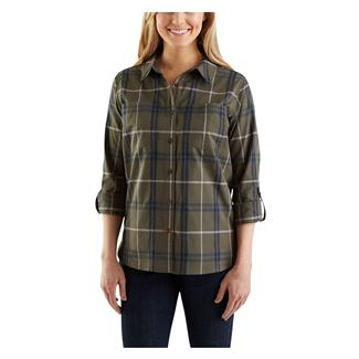 Carhartt Fairview Plaid Shirt Grape Leaf