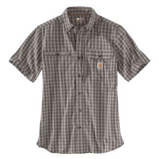 Carhartt Force Ridgefield Plaid Shirt Gravel