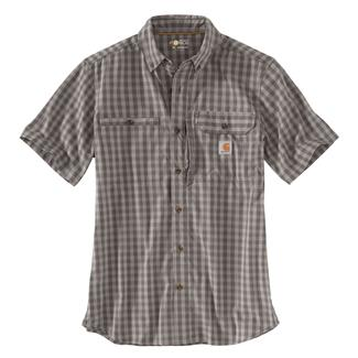Carhartt Force Ridgefield Plaid Shirt Gravel