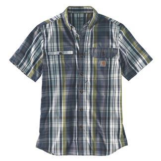 Carhartt Force Ridgefield Plaid Shirt Navy