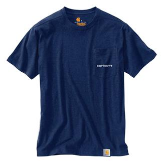 Carhartt Maddock Graphic Fishing 1889 T-Shirt Ink Blue Heather