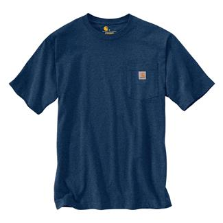 Carhartt Workwear Graphic Fish C T-Shirt Dark Cobalt Blue Heather