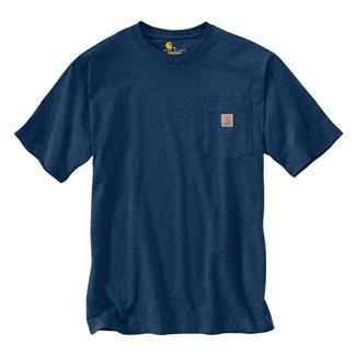 Carhartt Workwear Graphic Fish C T-Shirt Dark Cobalt Blue Heather