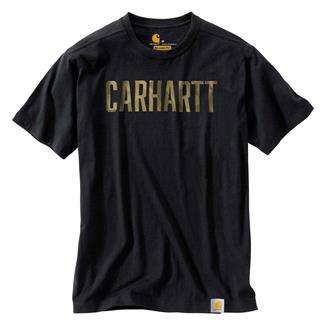 Carhartt Maddock Graphic Camo Logo T-Shirt Black