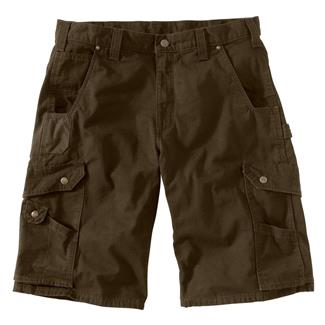 Carhartt Ripstop Cargo Work Shorts Dark Coffee