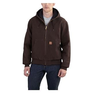 Carhartt Quilted Flannel Sandstone Active Jac Dark Brown
