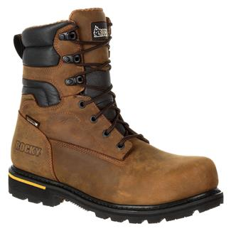 """Rocky 8"""" Governor CT WP Distress Brown"""