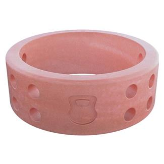 Qalo Perforated Silicone Ring with Kettlebell Misty Rose